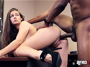 Lusty seductress IR torn up by hung manager