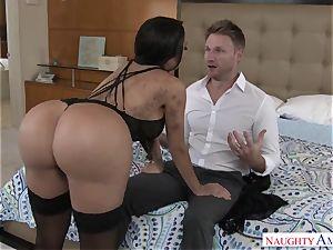 huge-titted lascivious exotic damsel Lela starlet seduces a married stud