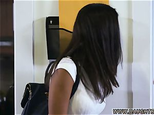 mom catches compeer duddy s daughter very first time Bring Your duddy s daughter to Work Day