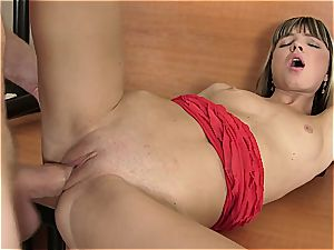 young Gina gets her vulva ripped open