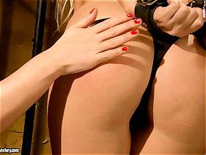 Kathia Nobili nasty jail guard tormenting a scorching babe